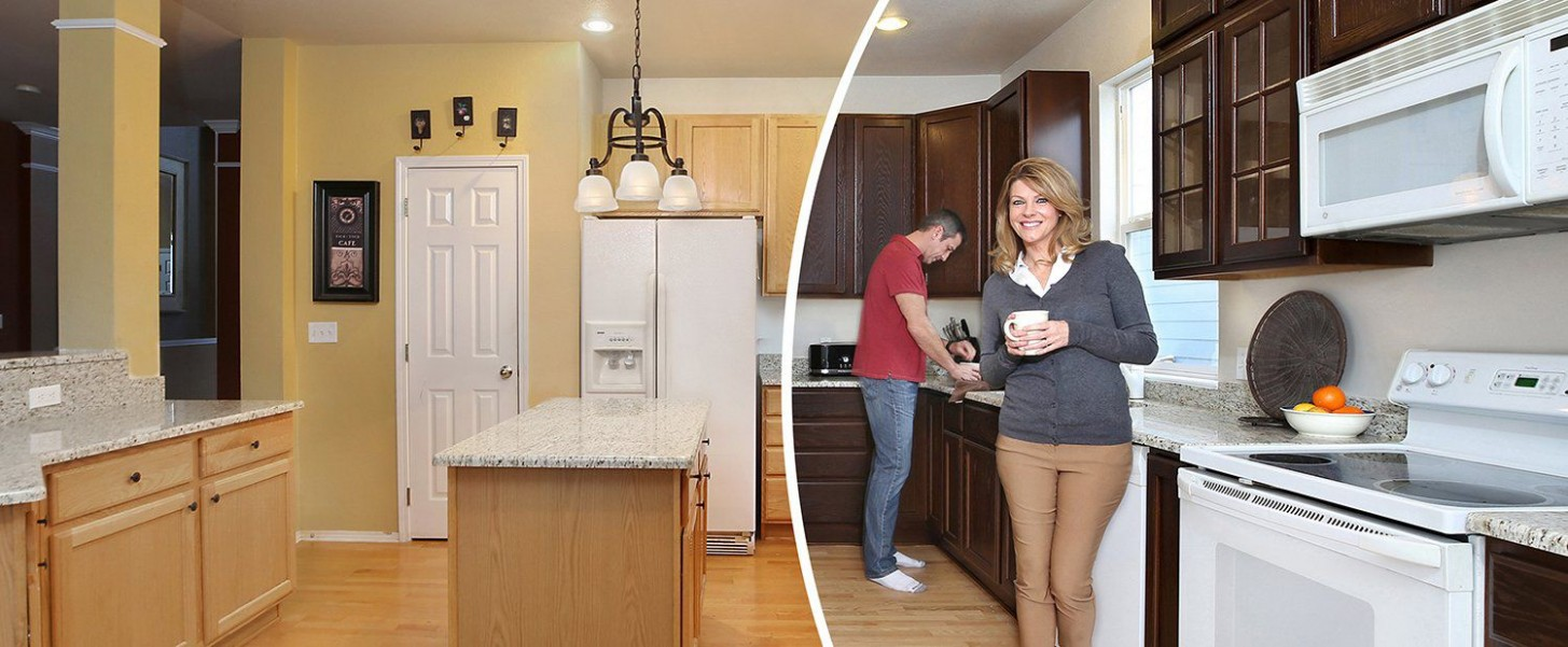 Kitchen Cabinet Refinishing (Natural Color Shift)  NHance Niagara  - Kitchen Cabinet Refacing Niagara Falls