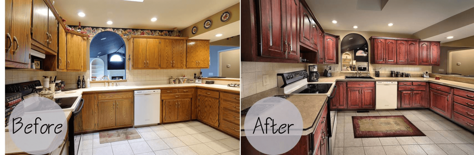 Kitchen Cabinets Refacing Before and After and the Cost - Refacing Kitchen Cabinets Cost