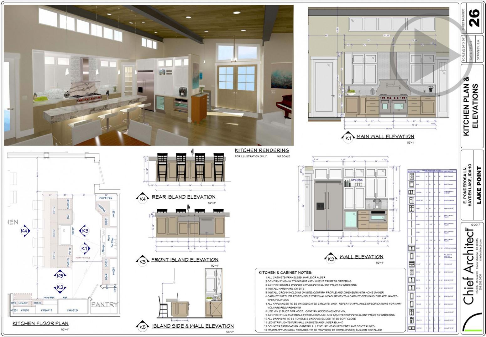 Kitchen Design Software  Chief Architect - Kitchen Cabinets Layout Design Tool