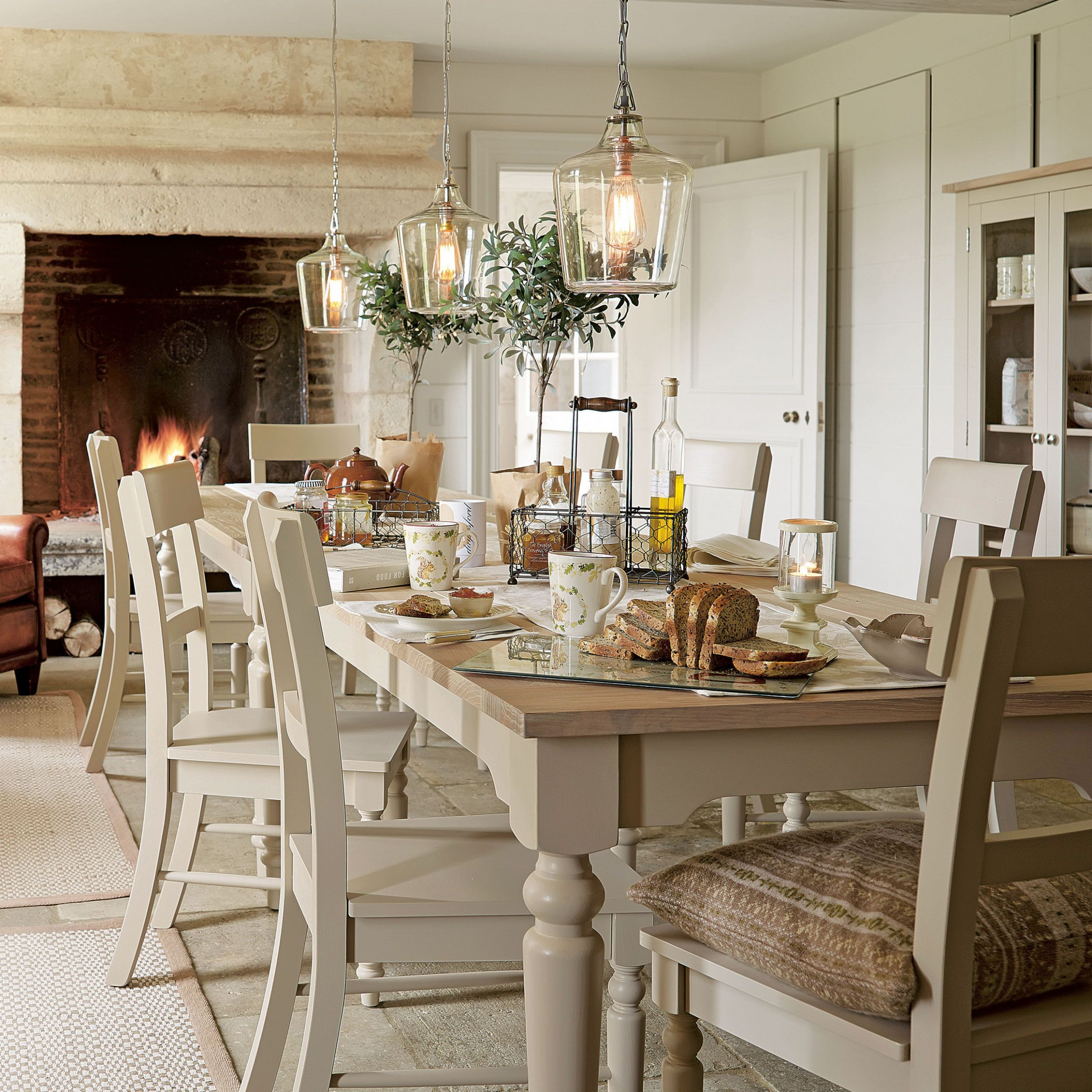 Kitchen lights - Laura Ashley  Glass kitchen tables, Chic kitchen  - Dining Room Ideas Laura Ashley