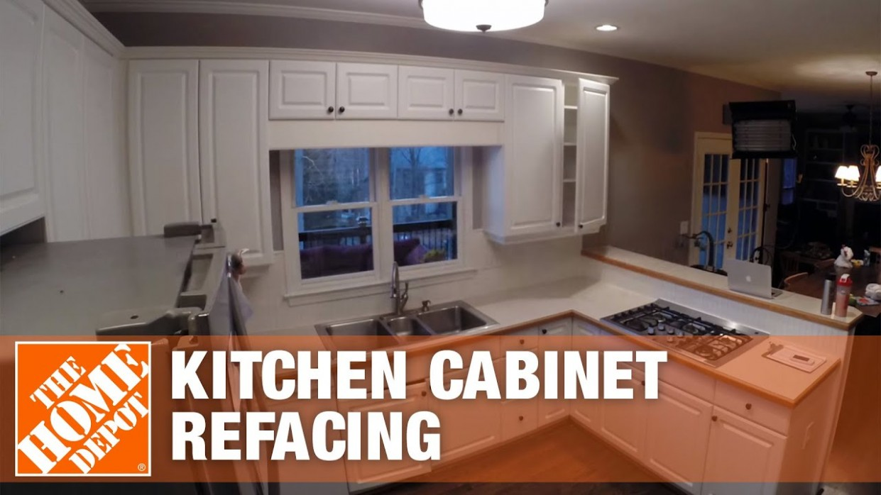 Kitchen Refacing Time Lapse  The Home Depot - Renew Kitchen Cabinets Home Depot