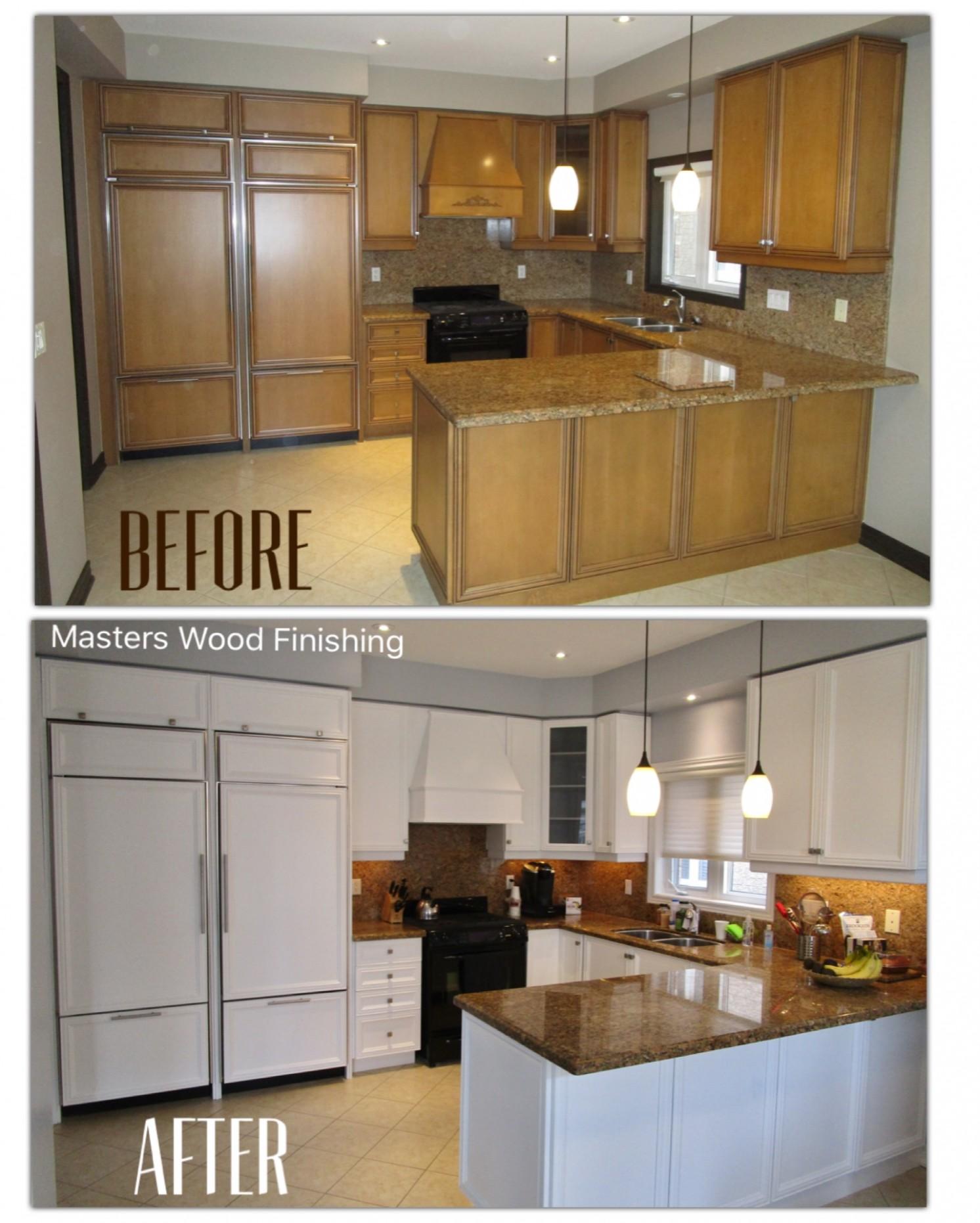 Kitchen Refinishing - Masters Wood Finishing - Kitchen Cabinet Painting Toronto