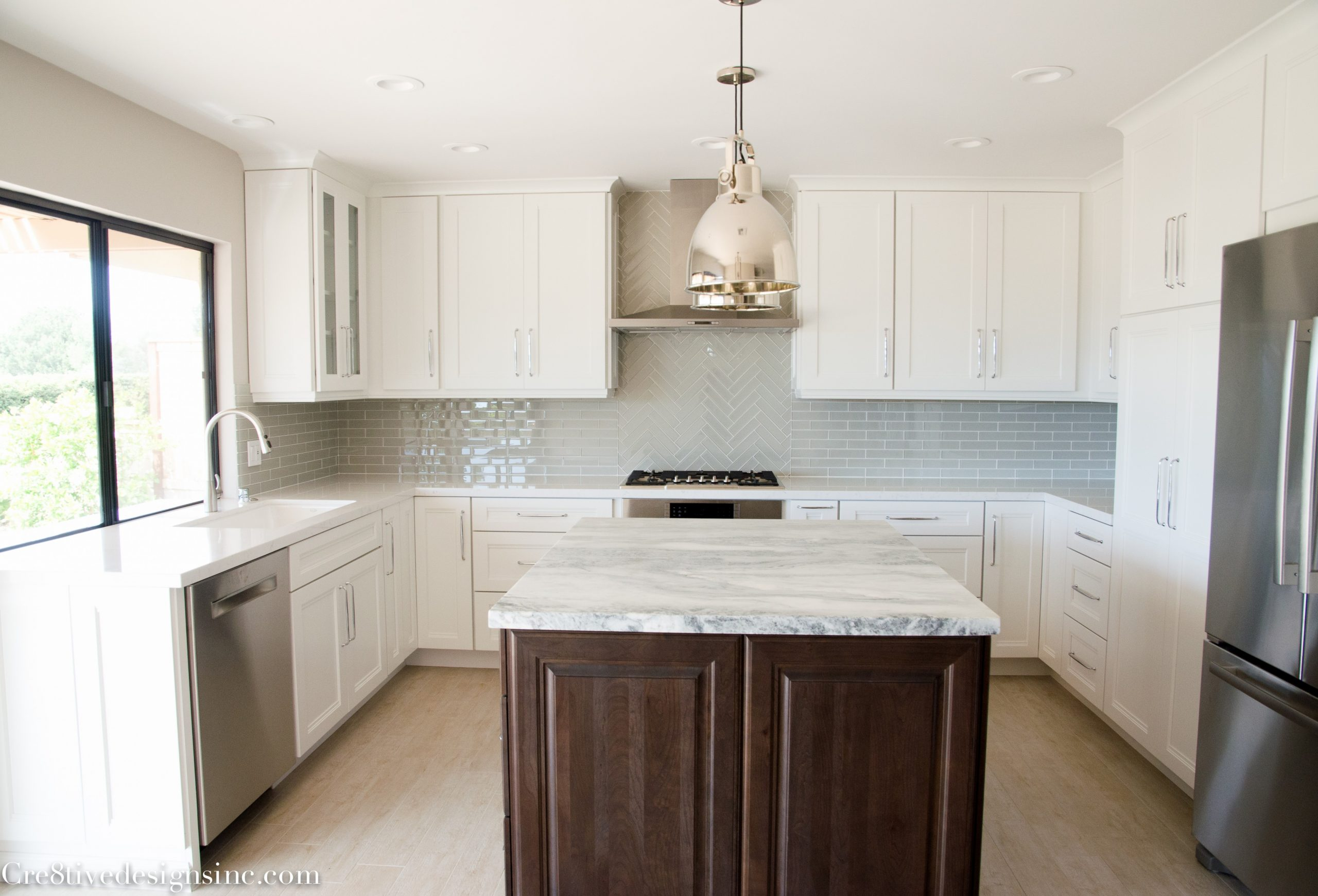 Kitchen remodel using Lowes Cabinets - Cre11tive Designs Inc