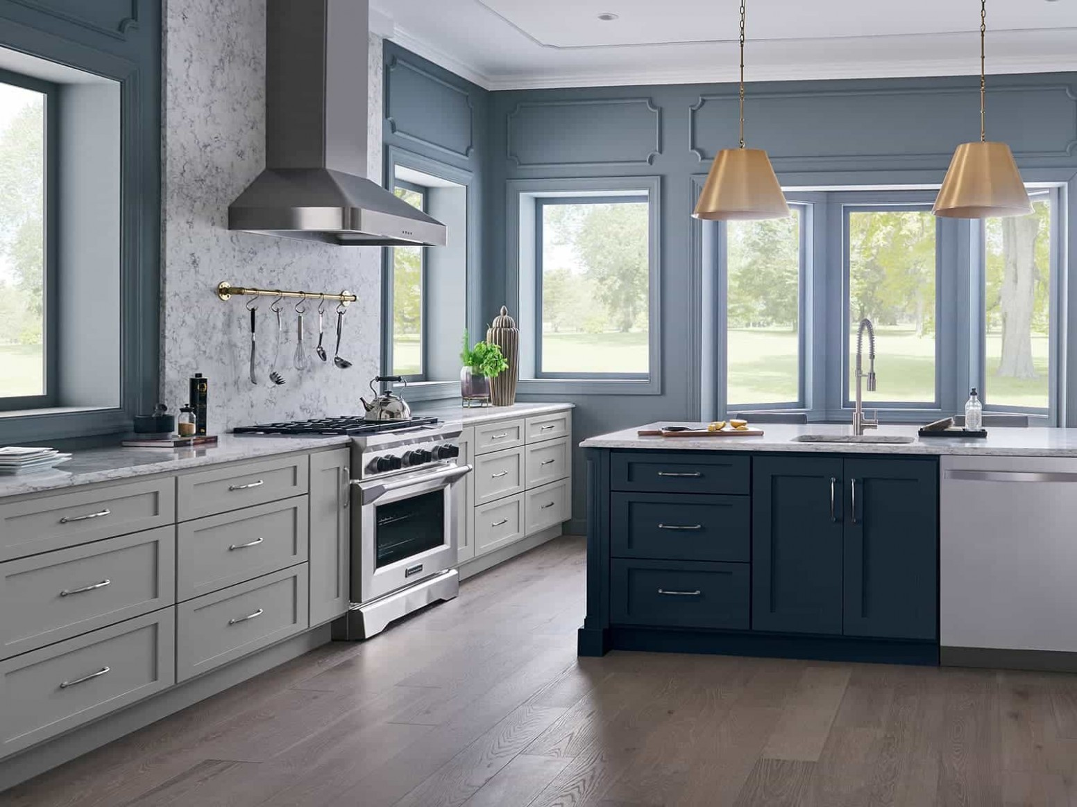 Kitchens Without Upper Cabinets - Bertch Cabinet Manufacturing - Kitchen Design Without Cabinets