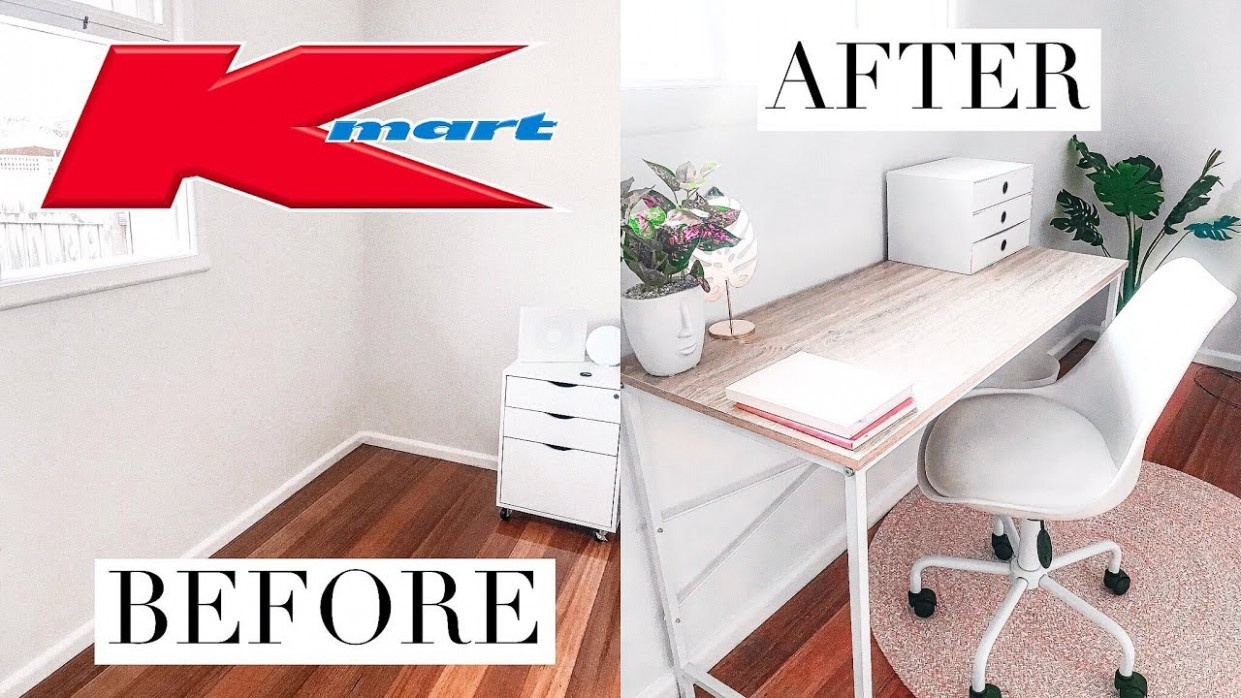 KMART $12 OFFICE MAKEOVER! - Home Office Ideas Kmart