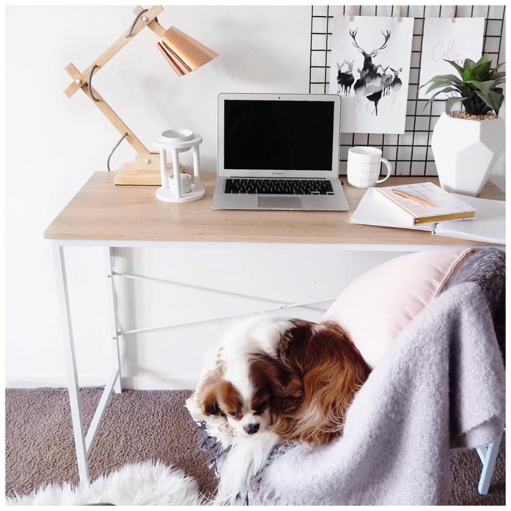Kmart Scandi Desk and accessories via @leerachel Instagram  - Home Office Ideas Kmart
