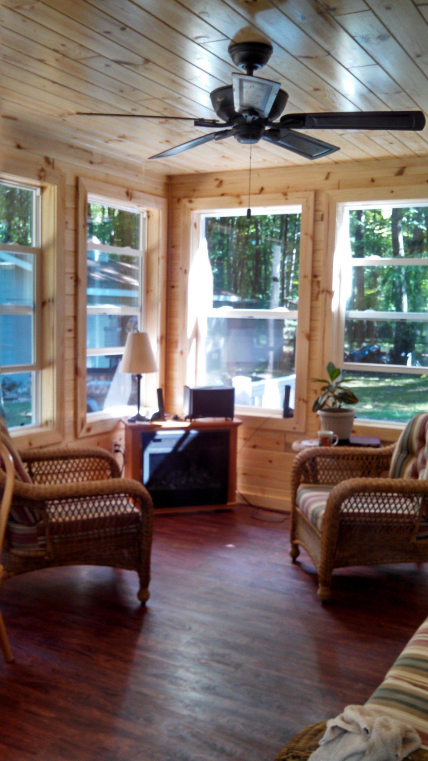 knotty pine sunroom  Small sunroom, Porch to sunroom, Sunroom  - Small Sunroom Off Bedroom