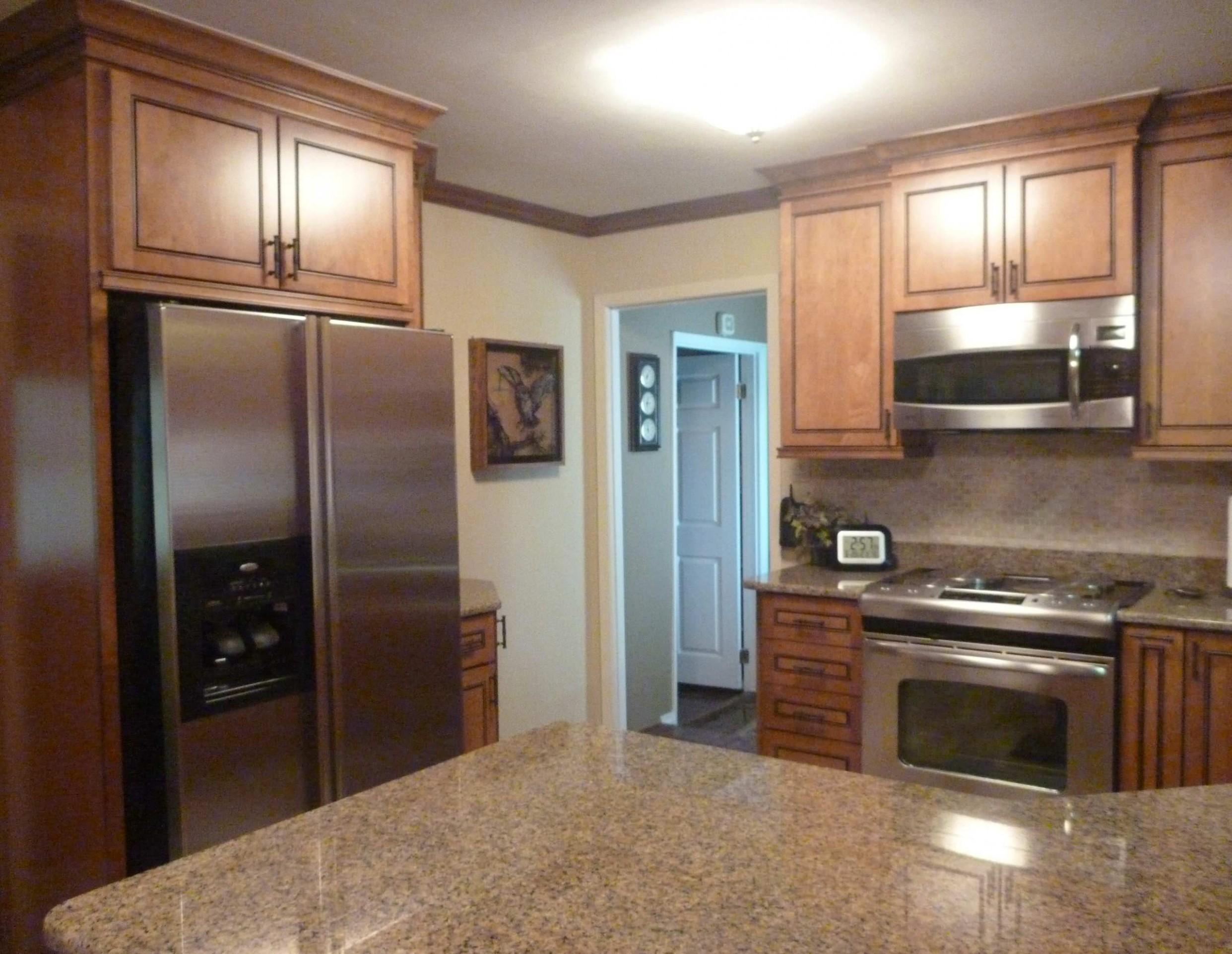 Kraftmaid Onyx Praline  Houzz - Kitchen Cabinets In Warner Robins Ga