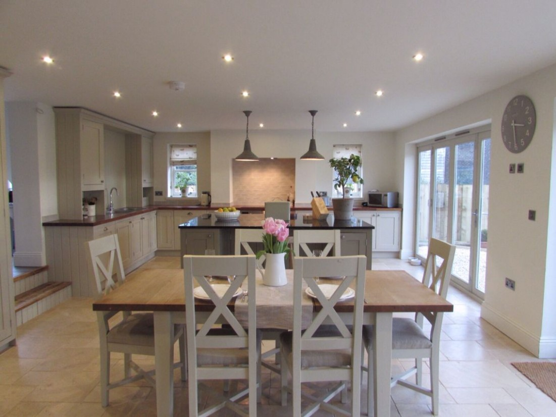 Latest project, Boldmere House, Shipton Oliffe, rsj builders  - Dining Room Kitchen Design Ideas