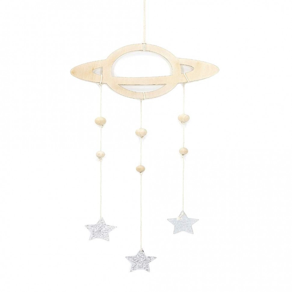 LIOOBO Baby Room Hanging Decoration Planet Star Pendant Wooden  - Baby Room Ornaments
