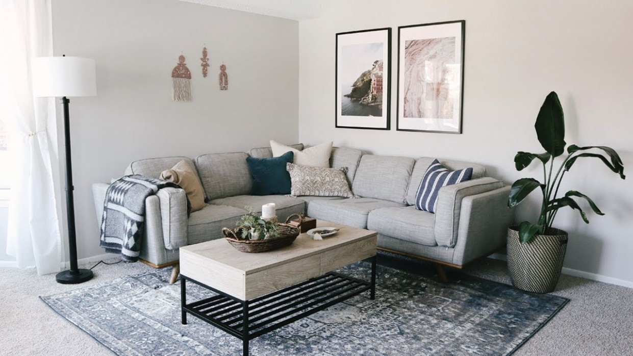 Living Room Apartment Makeover • Laying Out Furniture Tips & Decorating  Ideas - Apartment Design Living Room