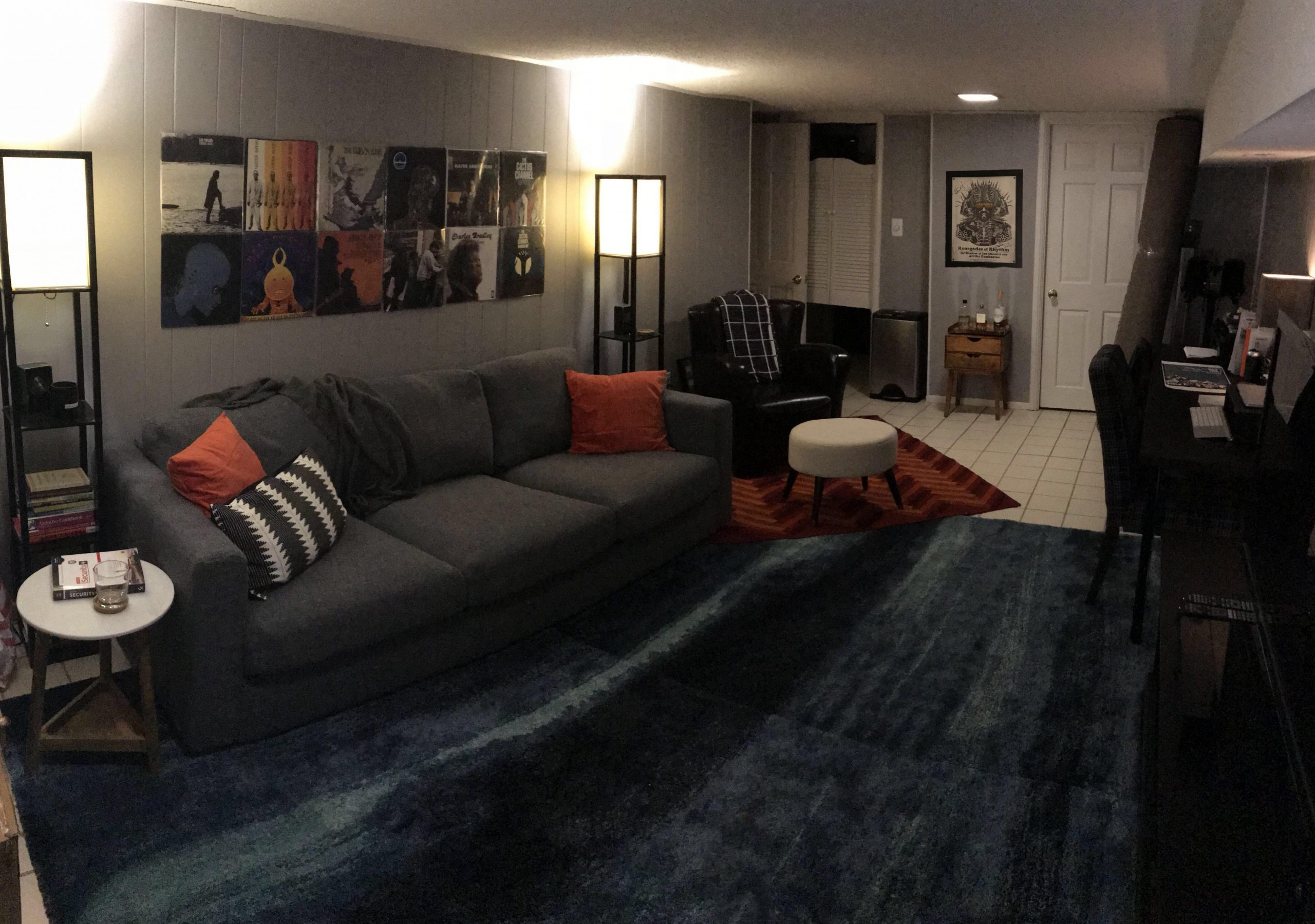 Living room in my basement apartment