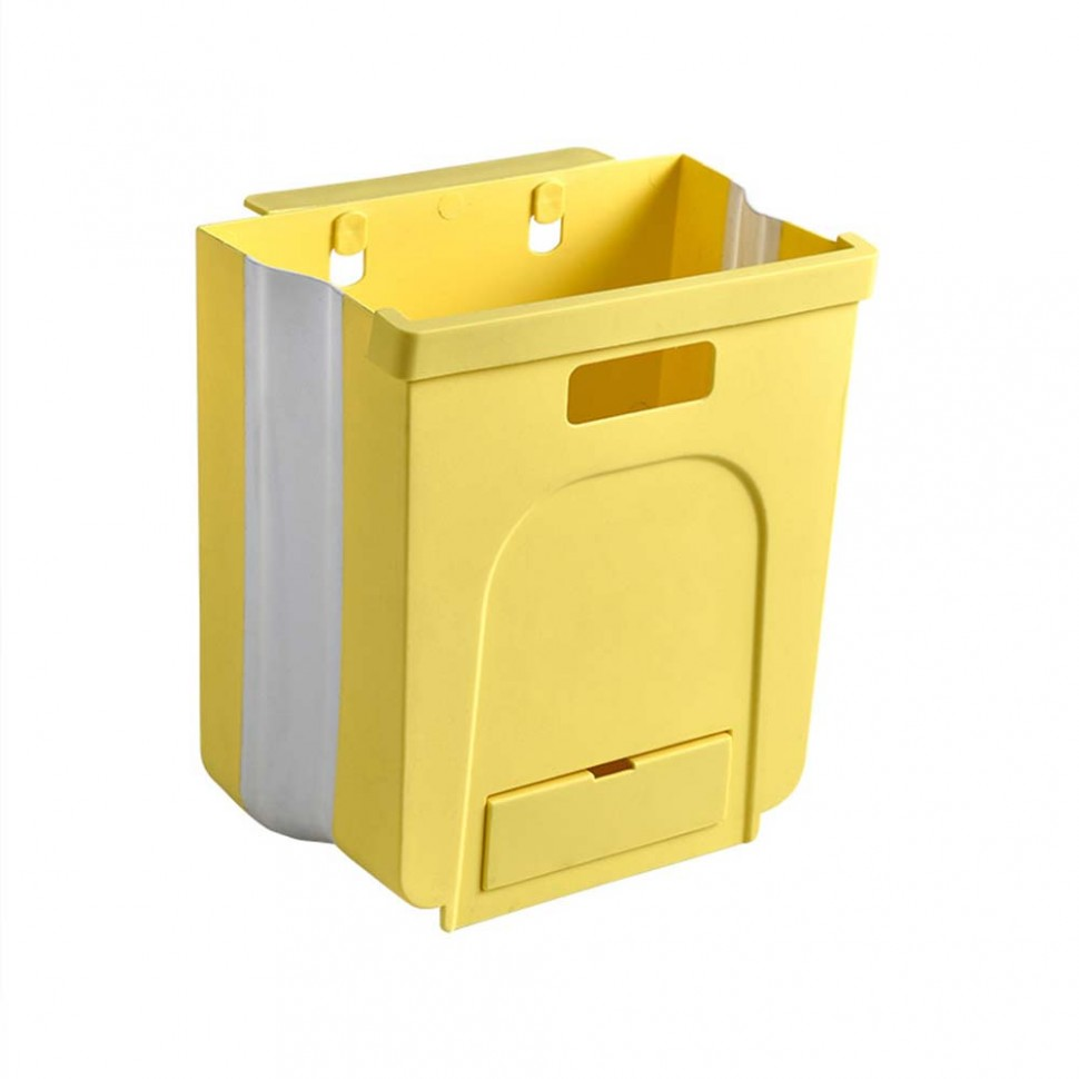 Lubelski Kitchen Drawer Hanging Collapsible Garbage Waste Bin  - Kitchen Bin Storage Cabinet