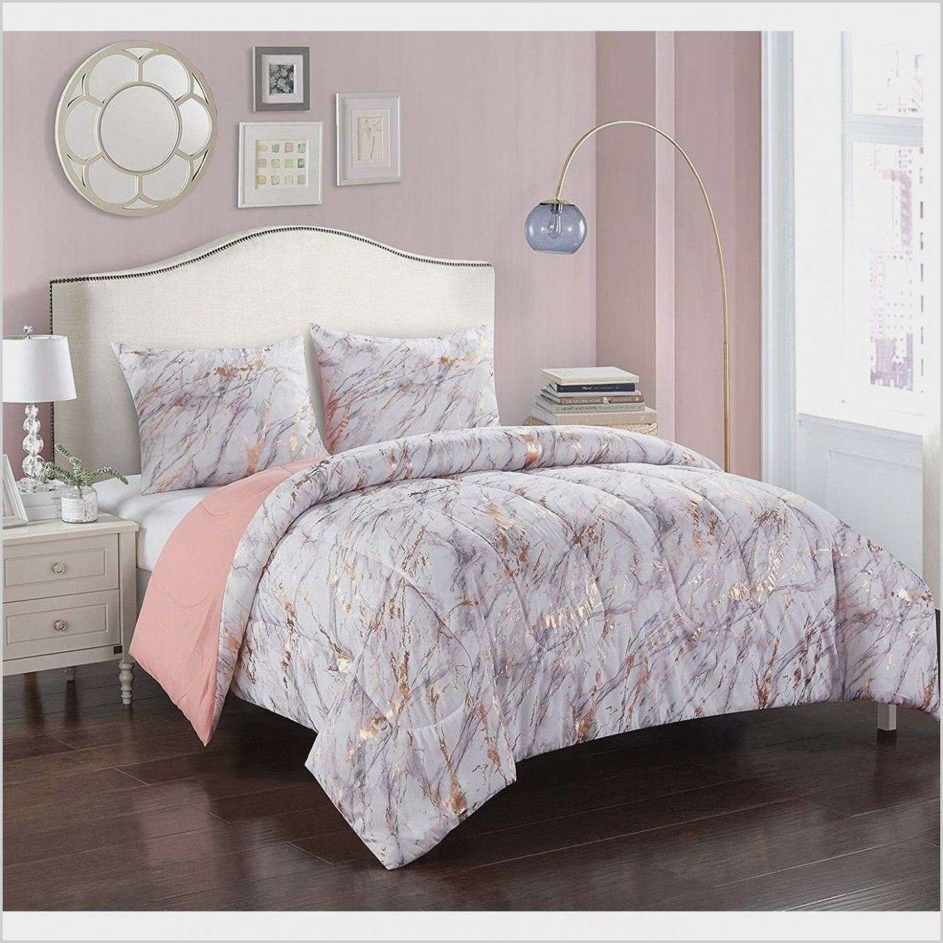 Marble and Rose Gold Bedroom Ideas in 10  Rose gold bedroom  - Bedroom Ideas Rose Gold And Grey