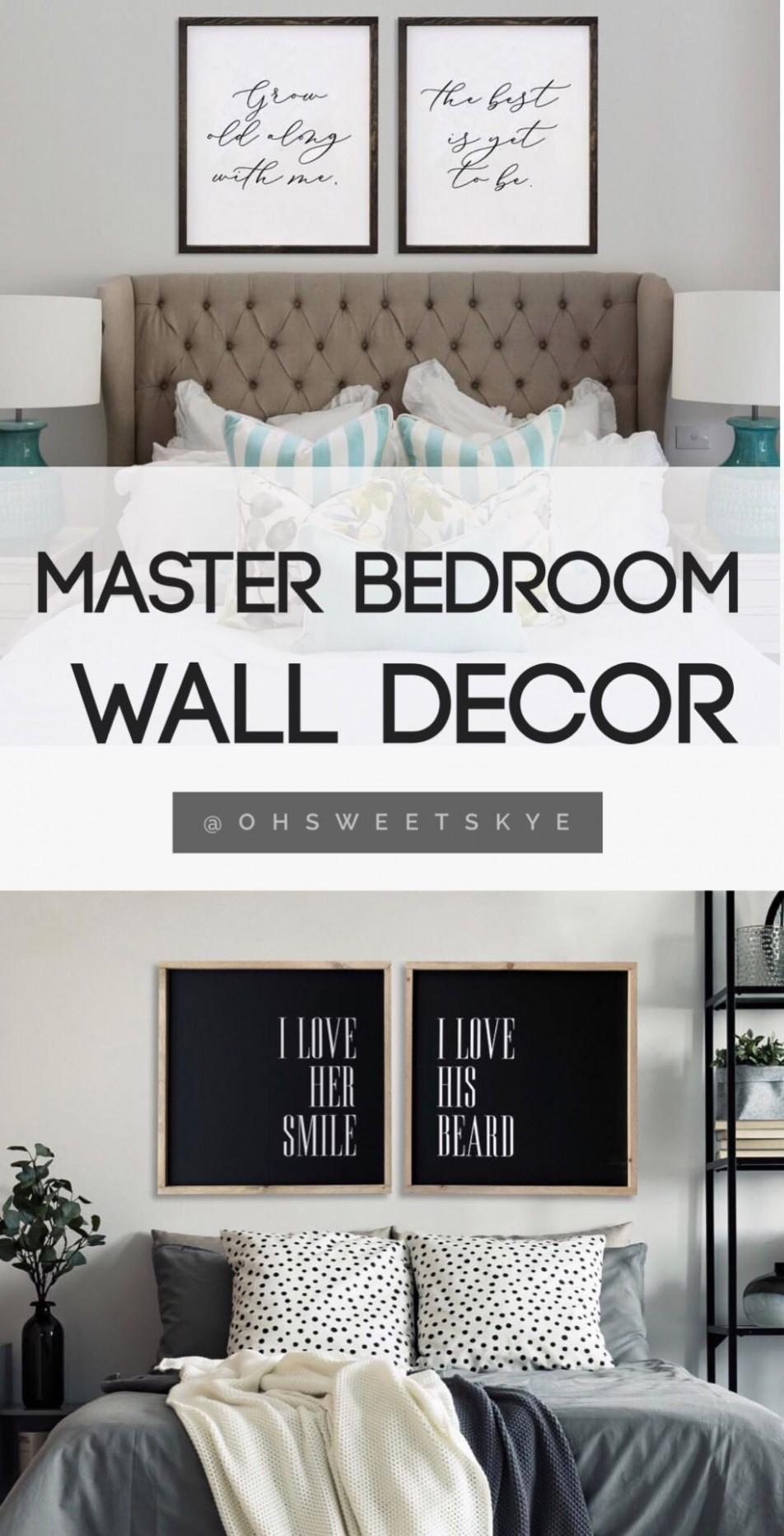 Master bedroom wall decor / master bedroom decoration ideas  - Wall Decor Ideas Master Bedroom