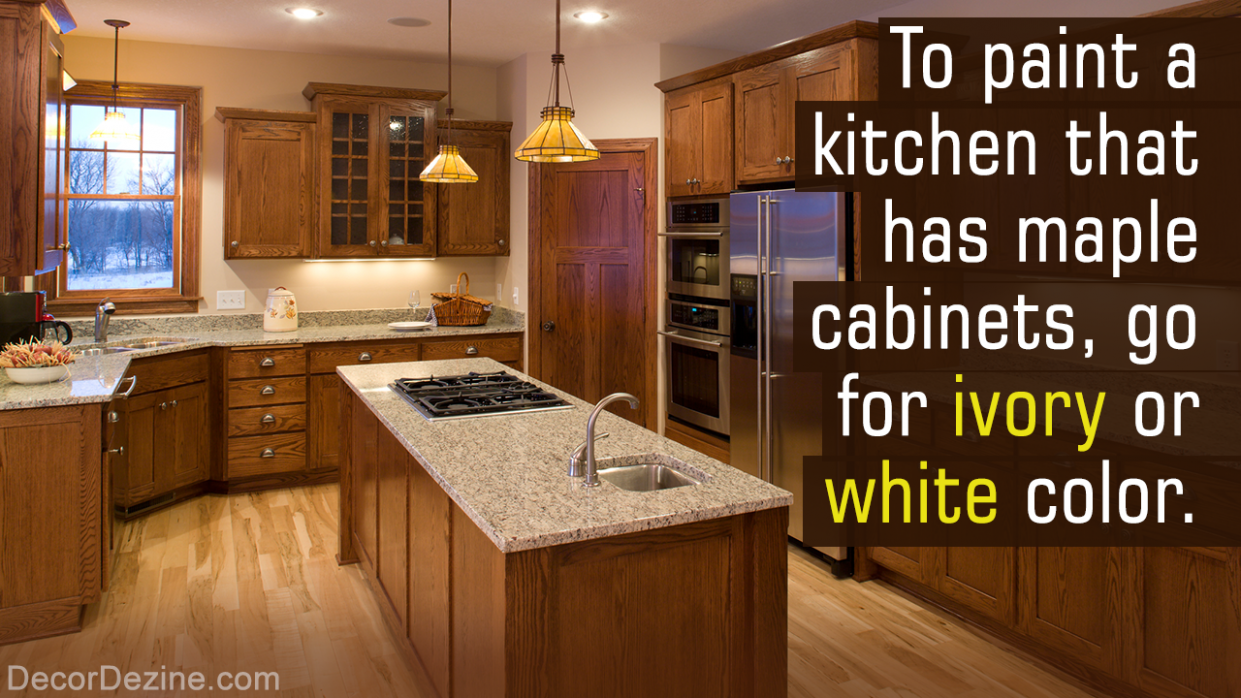 Matching wall colors with kitchen cabinets is essential in  - What Color To Paint Kitchen Walls With Maple Cabinets