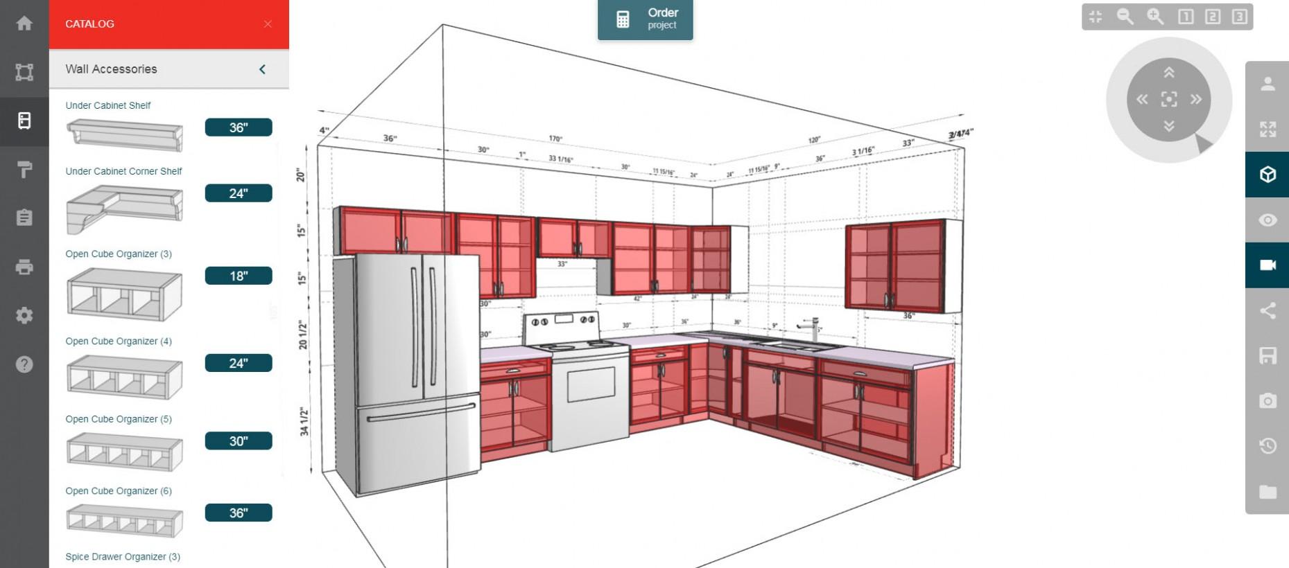 Merillat Kitchen Planner - Kitchen Cabinets Layout Design Tool