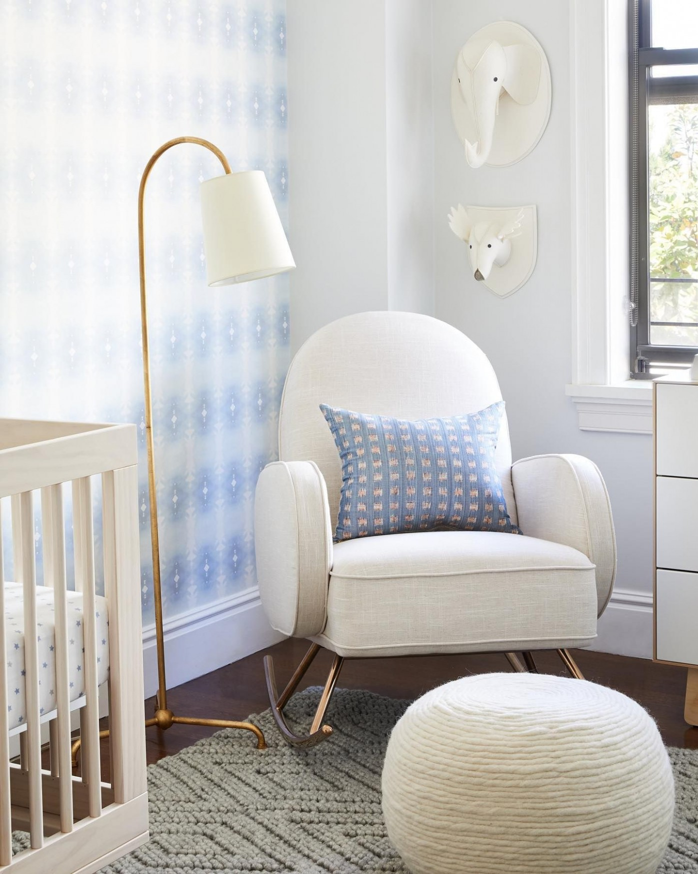 Mia Floor Lamp in 10  Baby blue nursery, Modern nursery design  - Baby Room Floor Lamp