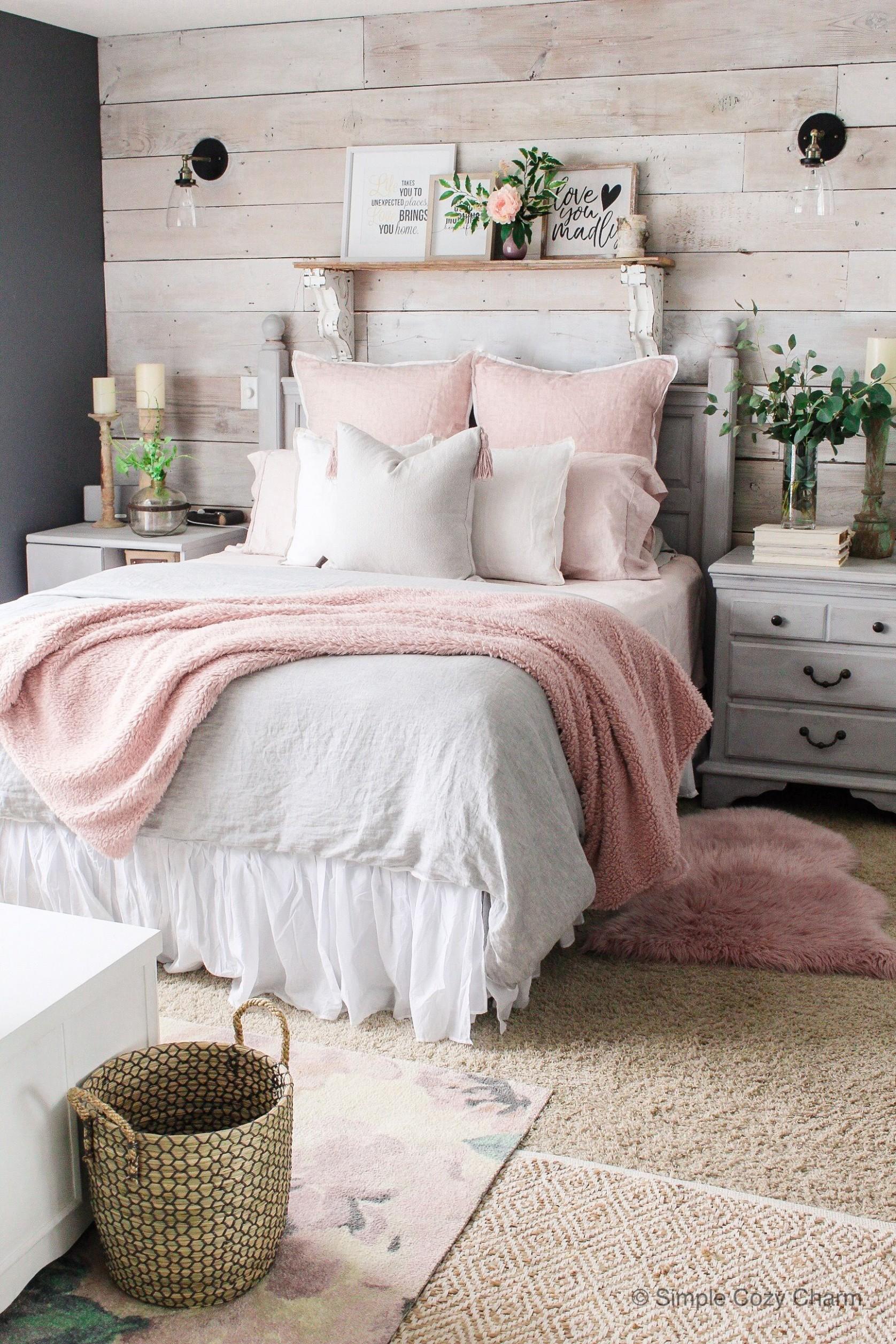 Mid-Winter Bedroom Facelift - Simple Cozy Charm  Bedroom refresh  - Cute Bedroom Ideas