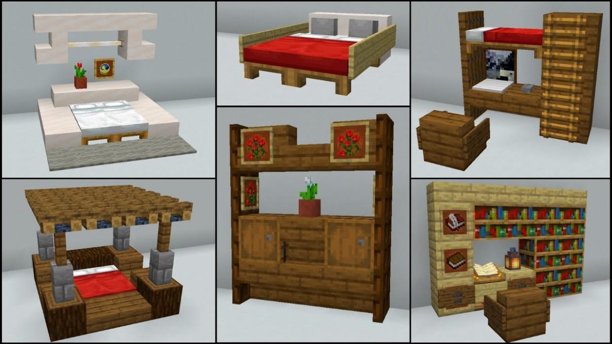 Minecraft: 12+ Bedroom Build Hacks and Ideas - Bedroom Ideas Minecraft