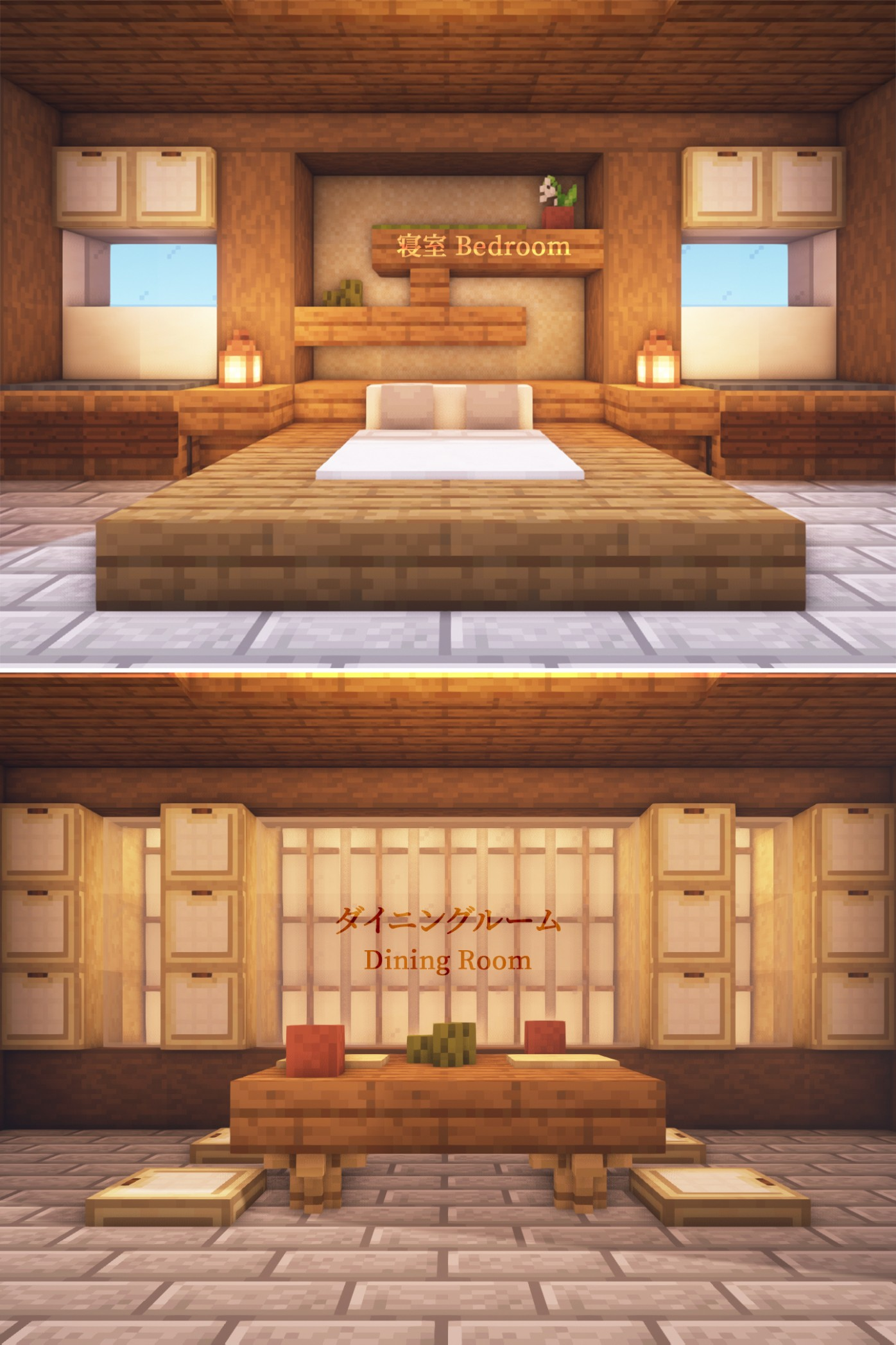 Minecraft Bedroom Furniture Ideas In Real Life Design Themed Wall  - Bedroom Ideas Minecraft