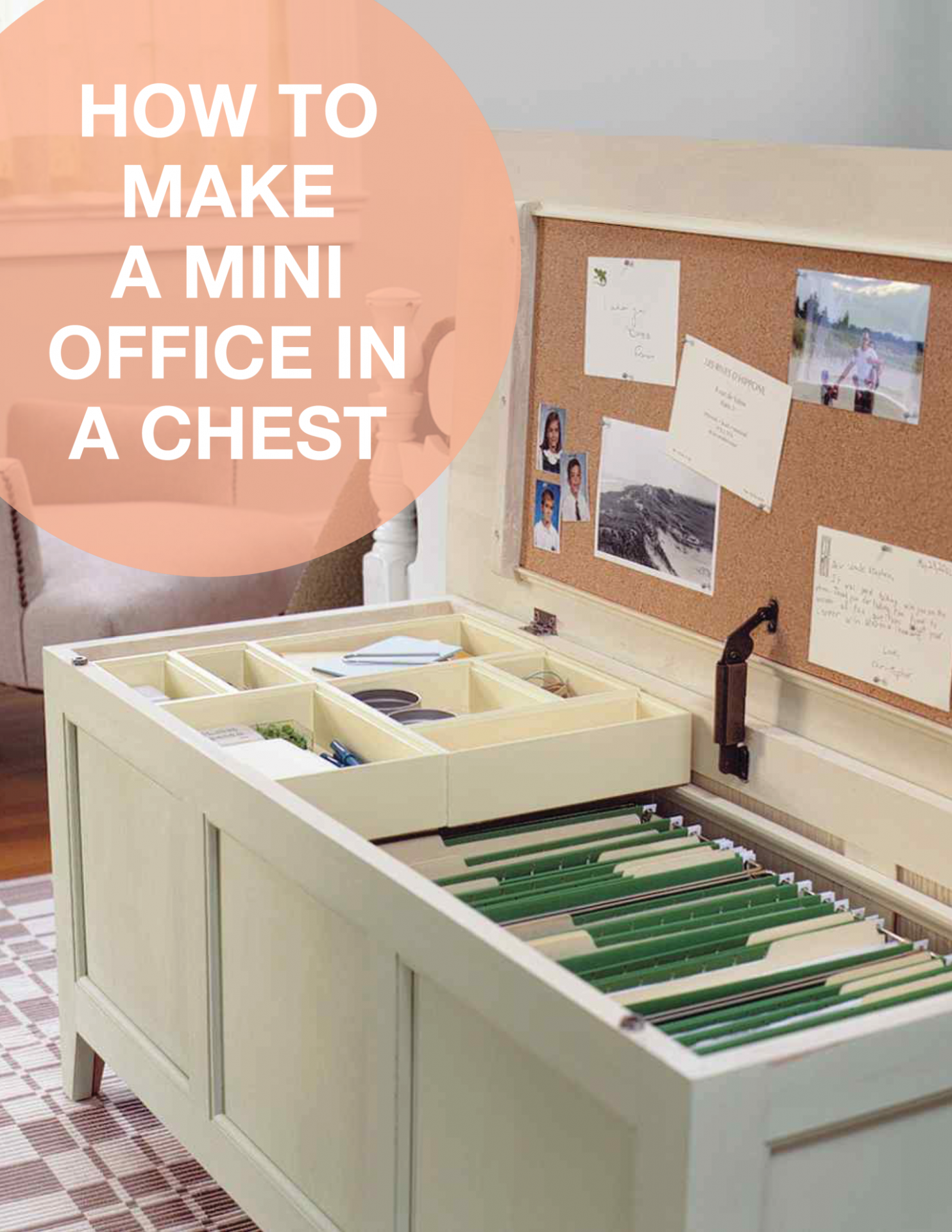 Mini Office in a Chest How-To  Home office organization, Office  - Home Office Organization Ideas