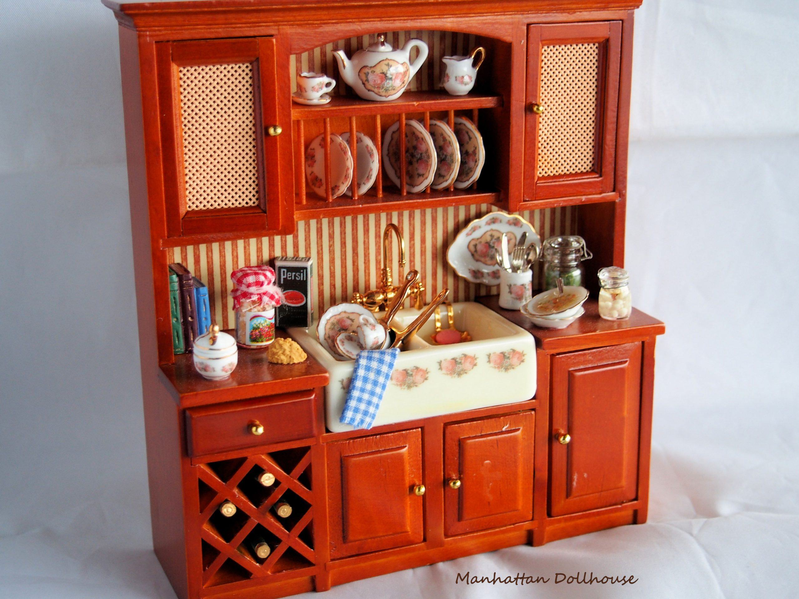 Miniature Kitchen Cabinet with Accessories - $9