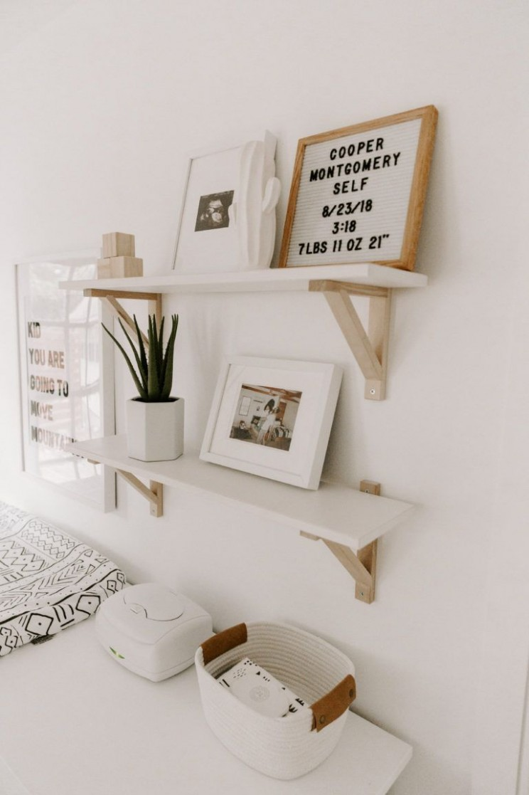 Minimal Boho Nursery - Project Nursery  Nursery baby room, Baby  - Baby Room Shelves