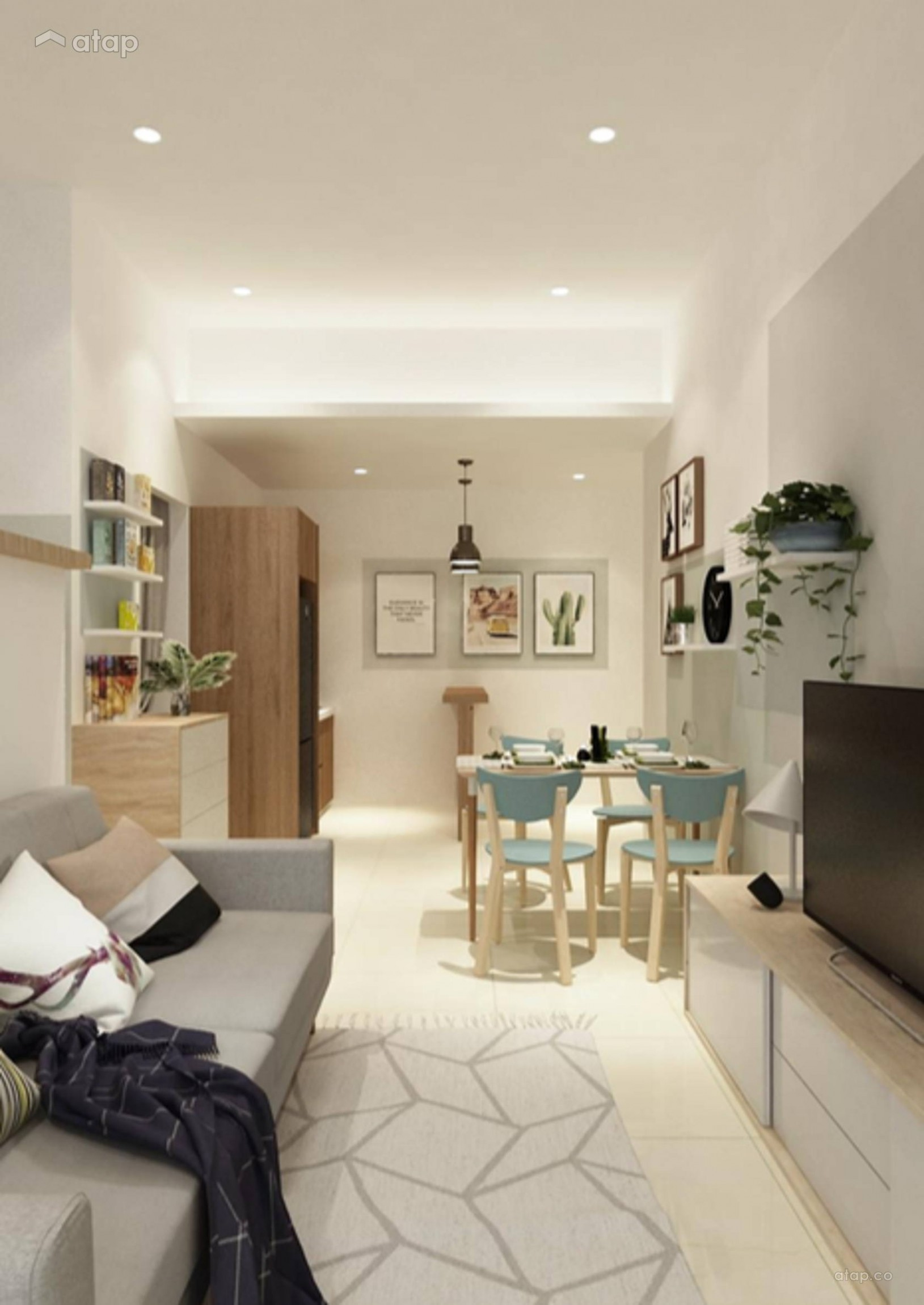 Minimalistic Modern Living Room apartment design ideas & photos  - Apartment Design Johor