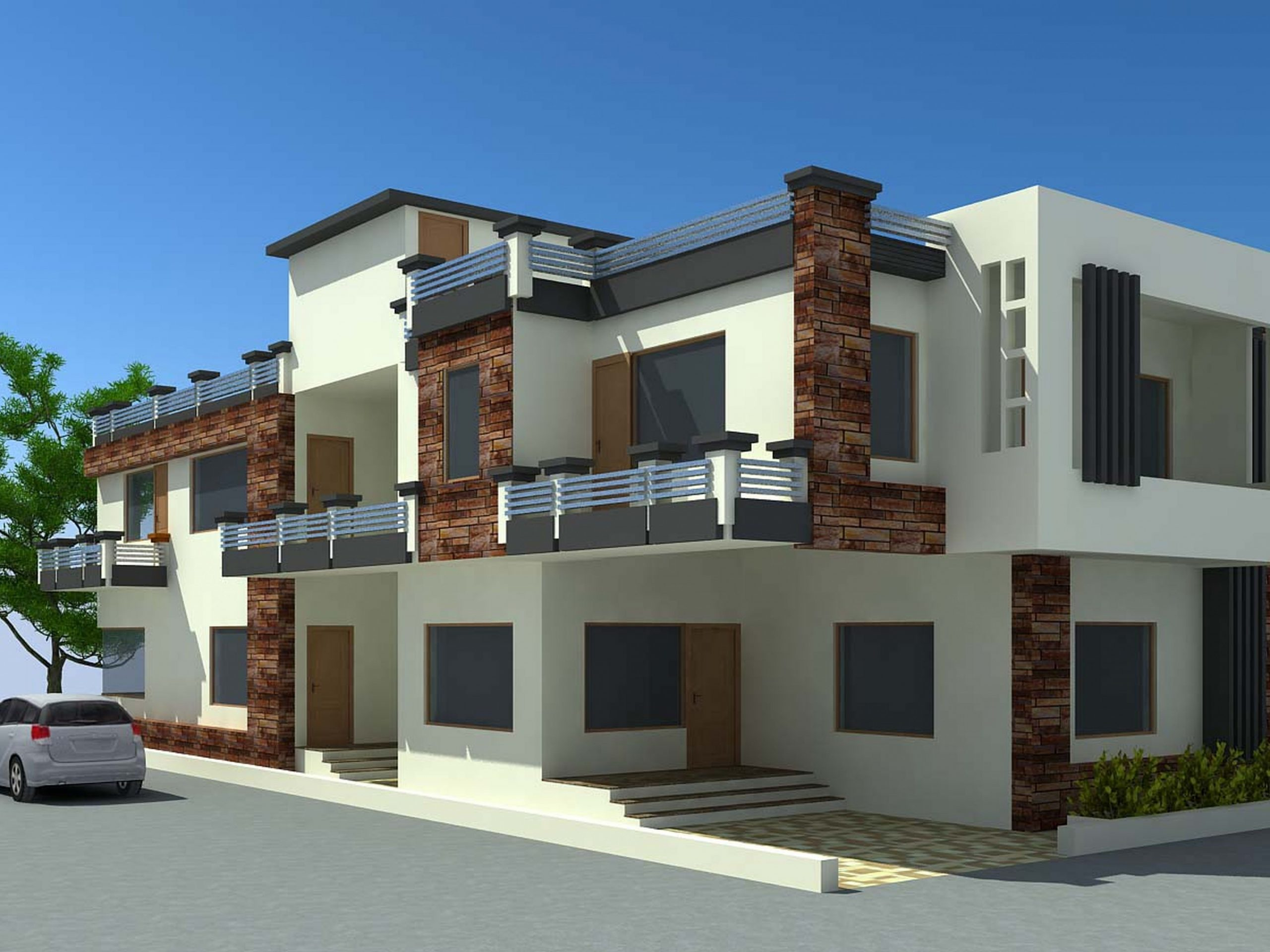 Modern House Designs For Your Fair The Best Design Small Townhouse  - Apartment Design Outside