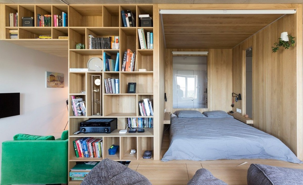 Modern in feel and urban Japanese in décor – small 12 sqm studio  - Small Apartment Japanese Design