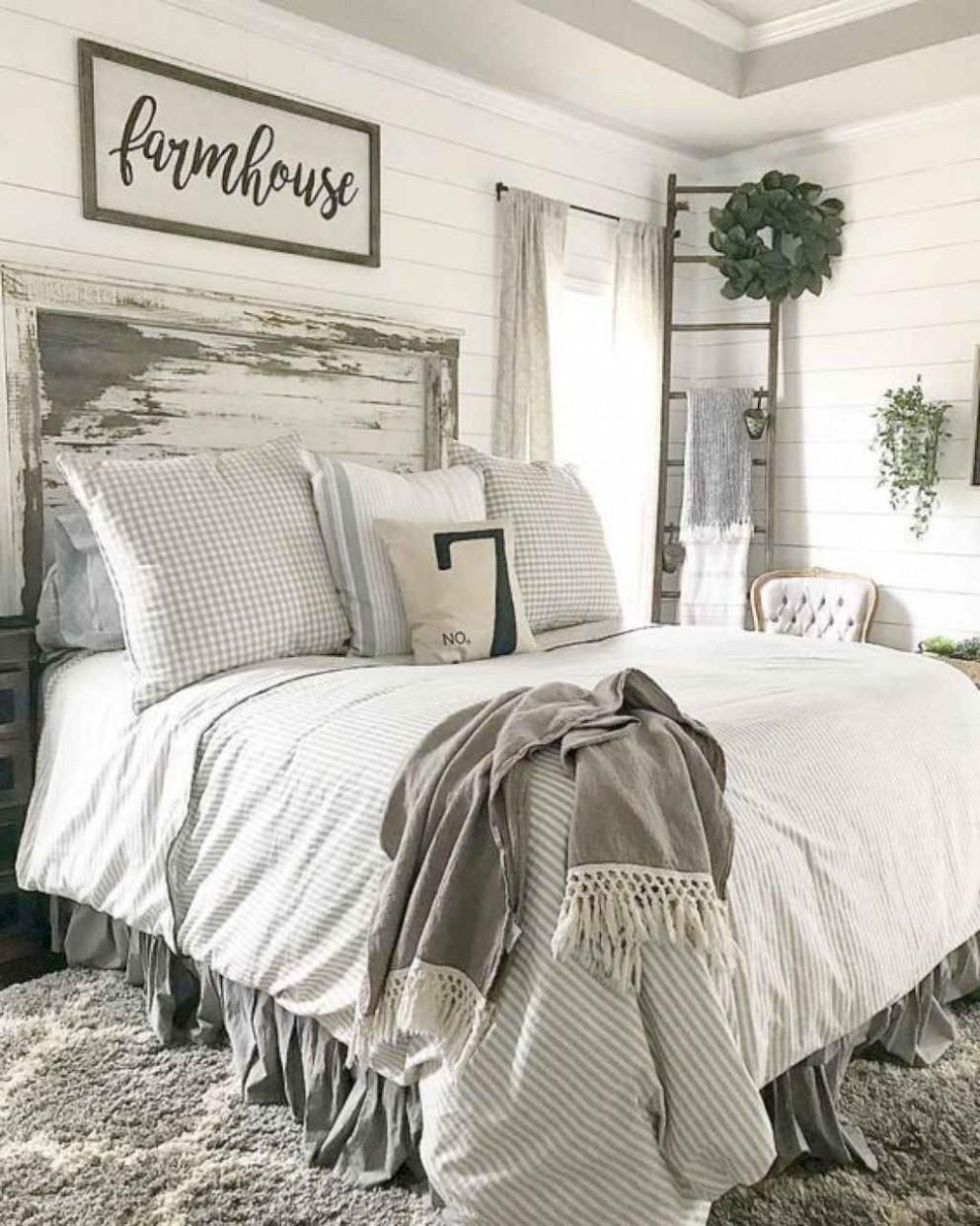 Most Popular Rustic Farmhouse Bedroom Design and Decorating Ideas  - Bedroom Ideas Rustic