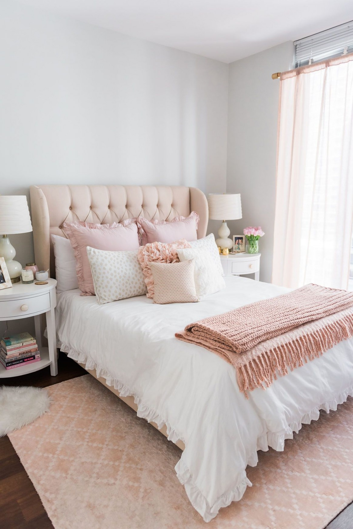 My Chicago Bedroom // Parisian Chic, Blush Pink — bows & sequins  - Bedroom Ideas Pink