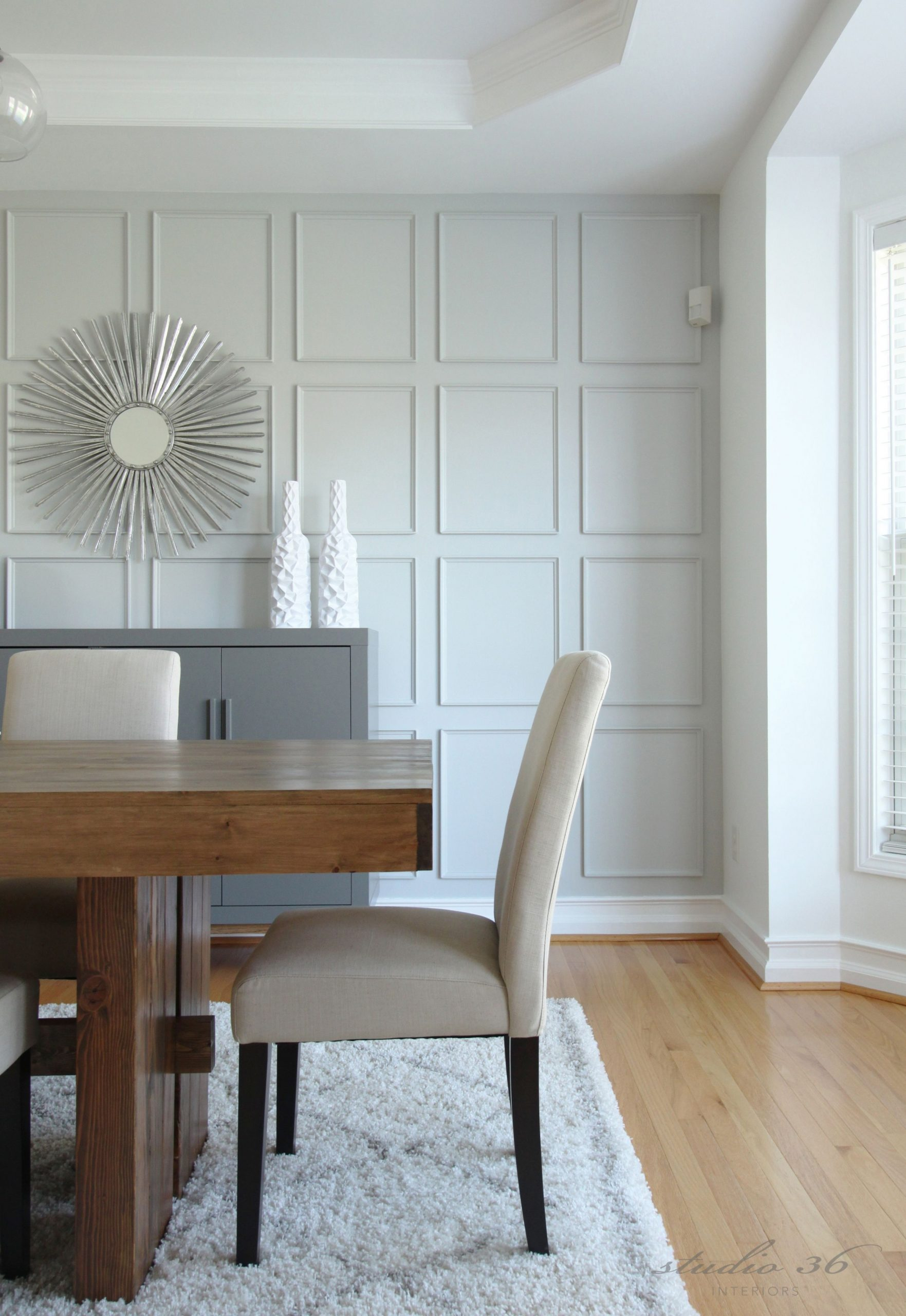 MY NEW DINING ROOM REVEAL!  Dining room wainscoting, Neutral  - Dining Room Moulding Ideas