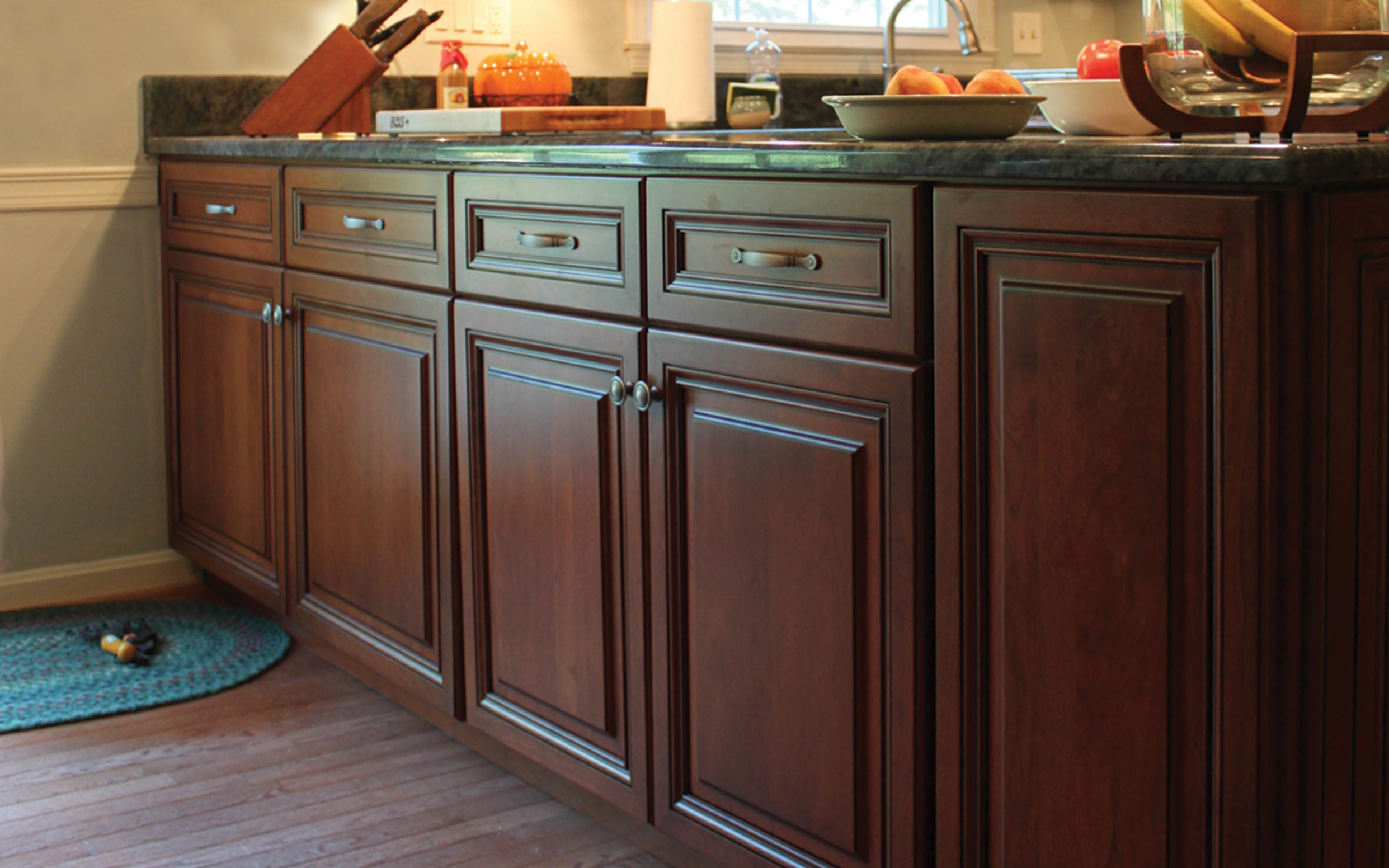 National Refacing Systems - Lowes Cherry Wood Kitchen Cabinets