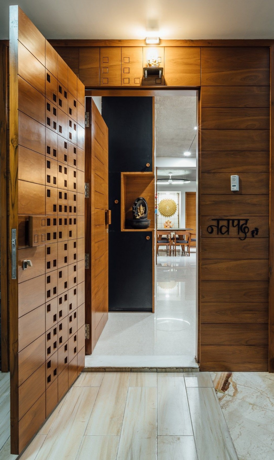Navpad-A New Path with Kaleidoscope of Tints Pavan Infratech  - Apartment Entrance Design Ideas