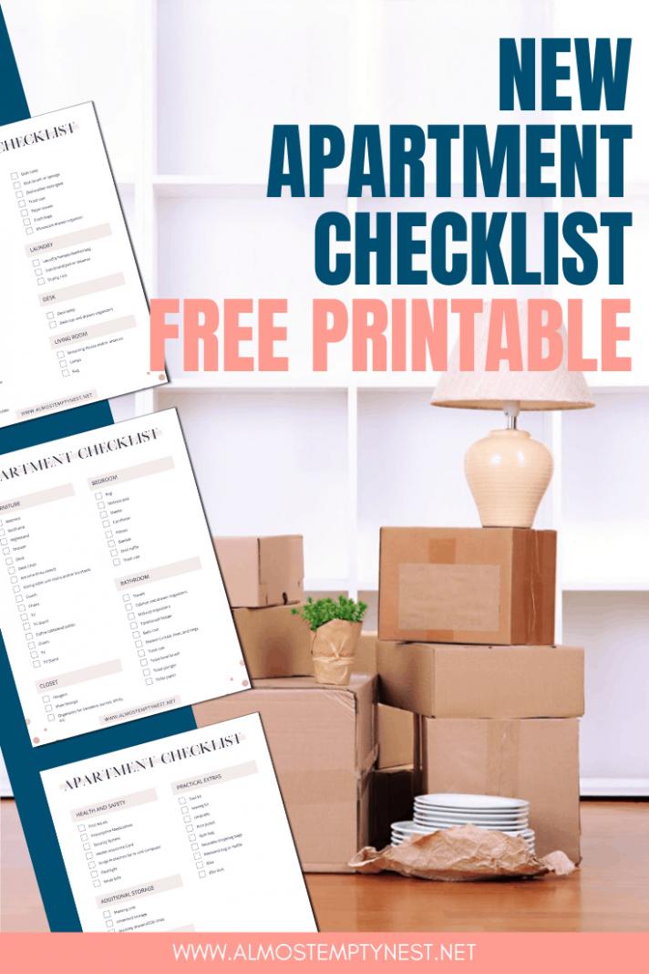 New Apartment Checklist - Almost Empty Nest - Apartment Design Checklist
