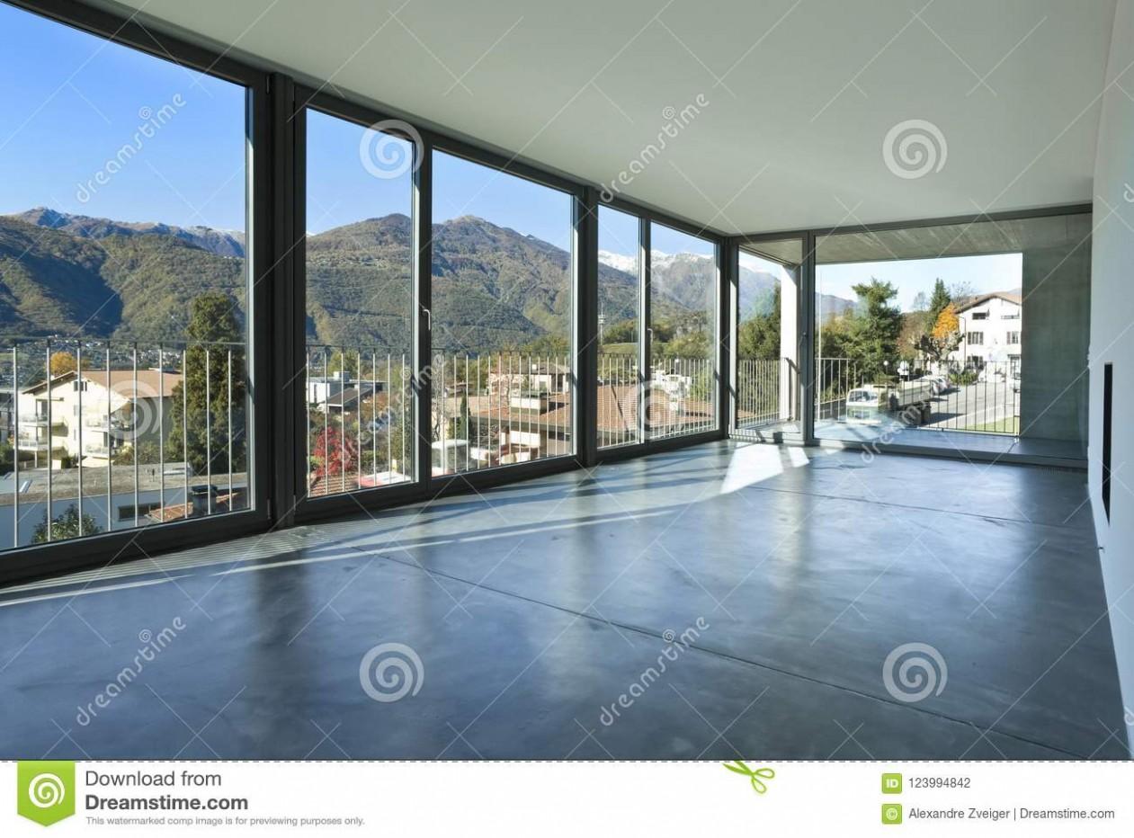 New Interior Design Apartment With Big Windows Stock Photo - Image  - Apartment Design Large Windows