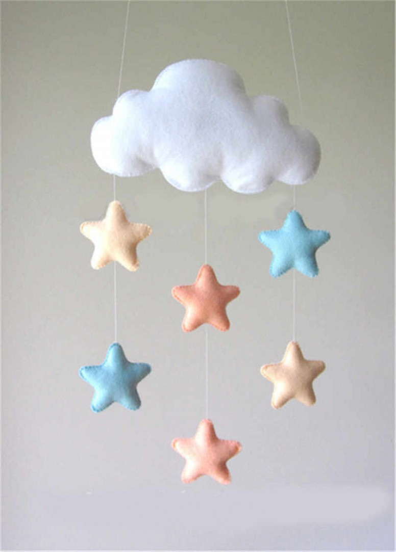 Nordic Cloud Star DIY Hanging Wall Decorations Baby Room Photography Props  Christmas Best Decor Gift Baby Mobile Hanger Ornament - Baby Room Ornaments