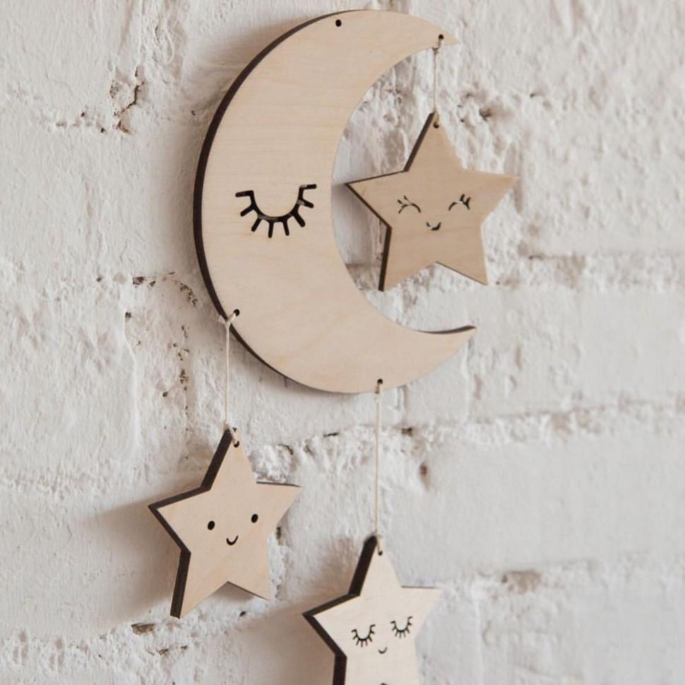 Nordic Lash Moon Star Hanging Ornament Kids Room Decoration  - Baby Room Ornaments