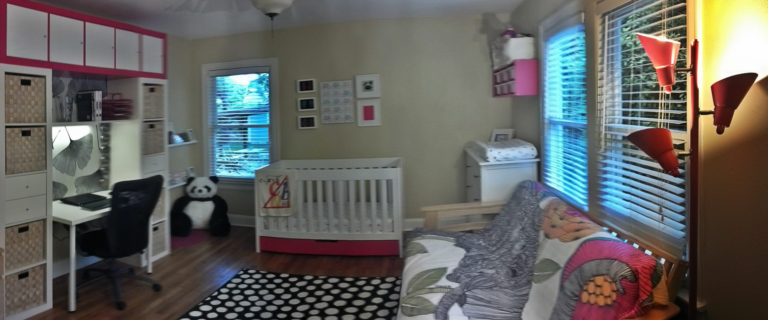 Nursery for Baby & Office for Mom  Modern Life in a Vintage Bungalow - Baby Room And Office