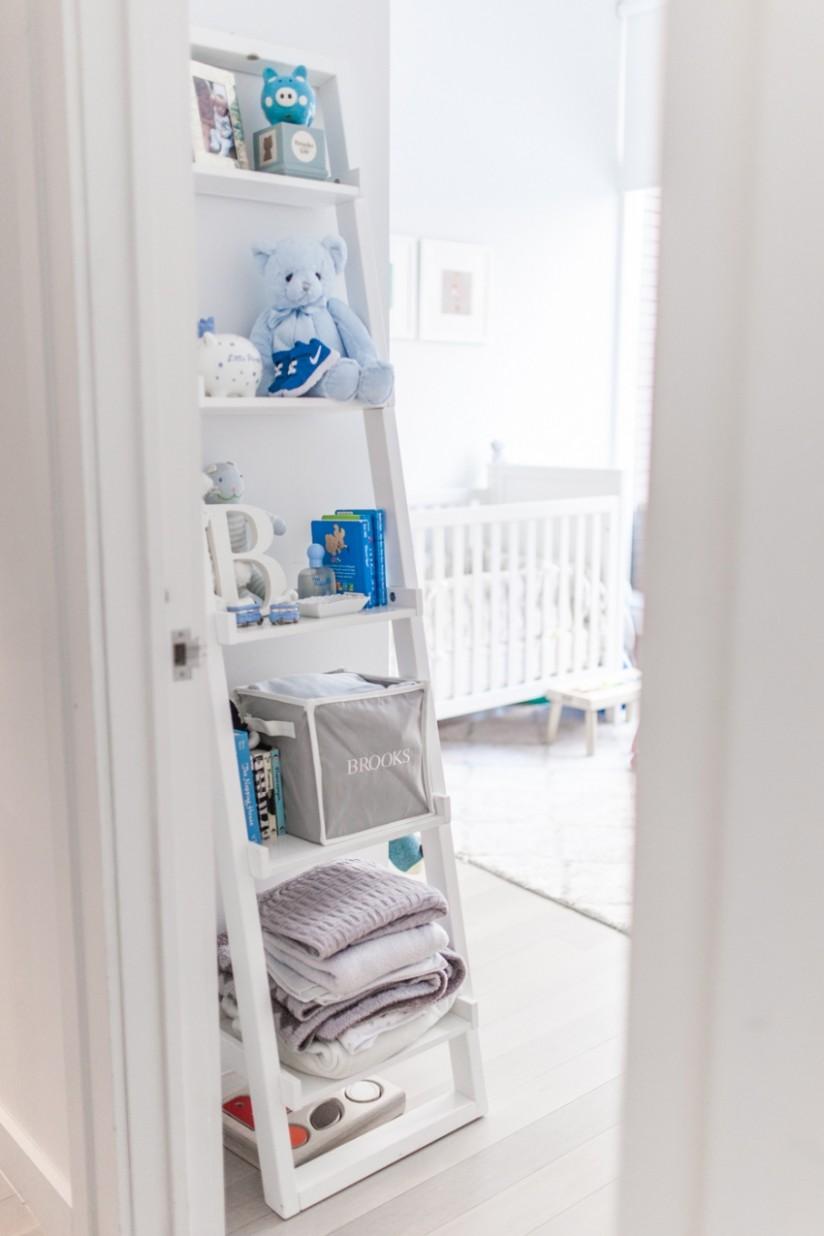Nursery Shelves - Fashionable Hostess - Baby Room Bookcase