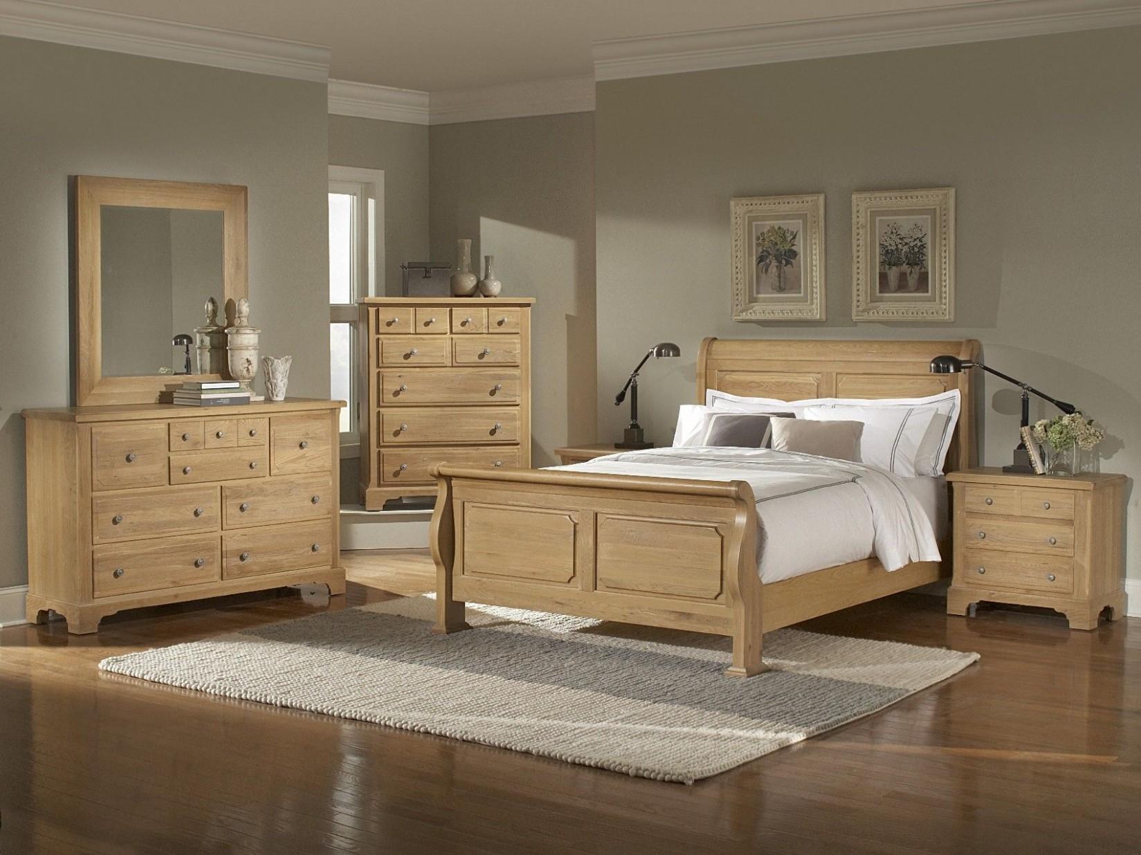 oak bedroom furniture sets   Washed Oak Queen Sleigh Bedroom  - Bedroom Ideas Oak Furniture