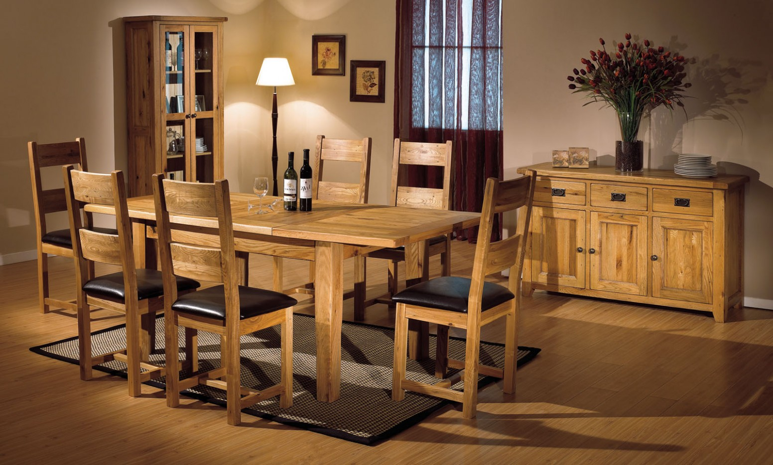 oak furniture for dining room  Dreamehome - Dining Room Ideas Oak Table