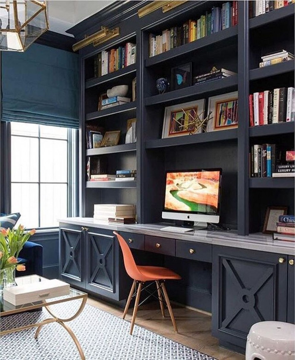 Office Bookshelves Ideas 12 in 12  Home office cabinets, Home  - Home Office Design Ideas 2021