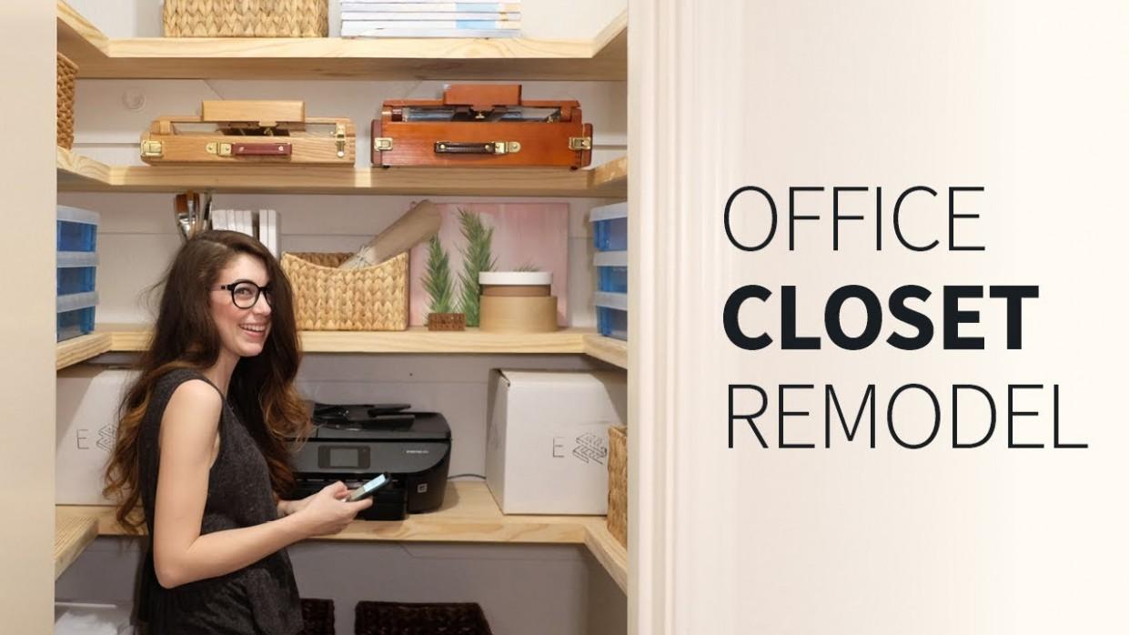 Office closet renovation  Organization / remodel ideas  How to - Closet Office Ideas