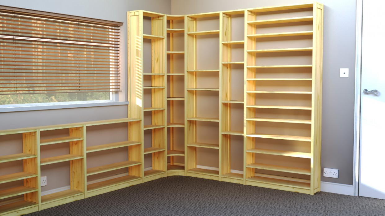 Office Shelves & Bookcases: Wood Shelving Units For Offices - Home Office Storage Ideas Uk