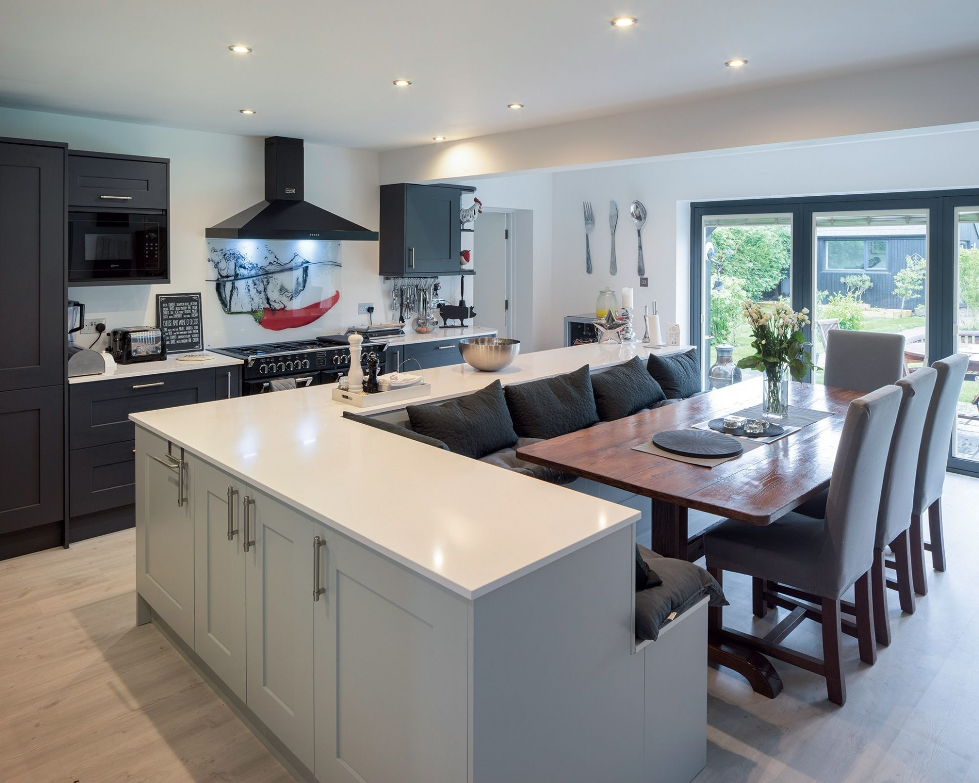 Old bungalow converted into modern, open-plan family home  Open  - Kitchen Dining Room Ideas Uk