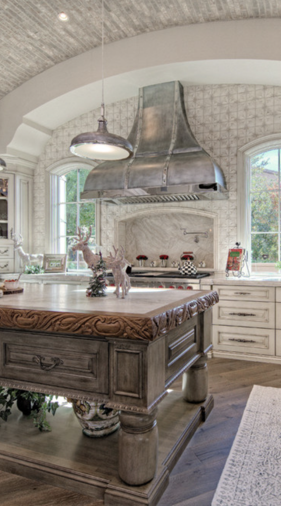 OLD WORLD KITCHEN with their large cooking hearths or grottos and  - World Kitchen Cabinets