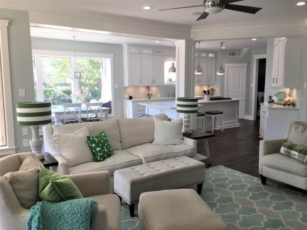 Opening Up Kitchen Wall to Living Room - thetarnishedjewelblog - Dining Room Off Kitchen Ideas